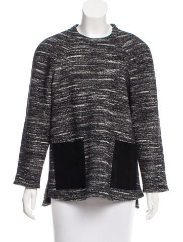 Proenza Schouler Leather-Trimmed Knit Top - Clothing - PRO32789 | The RealReal