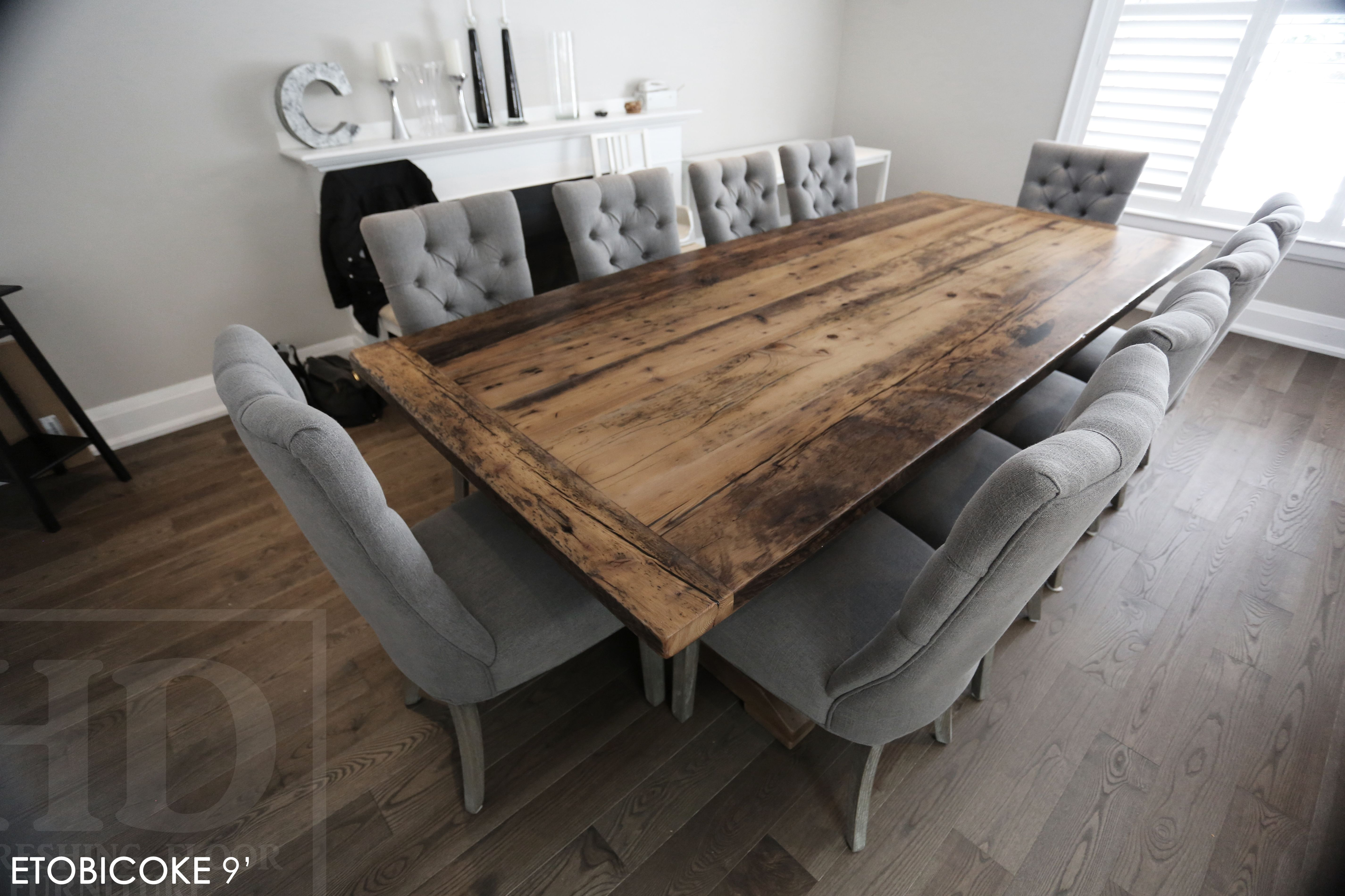 Reclaimed Wood Sawbuck Table By Hd