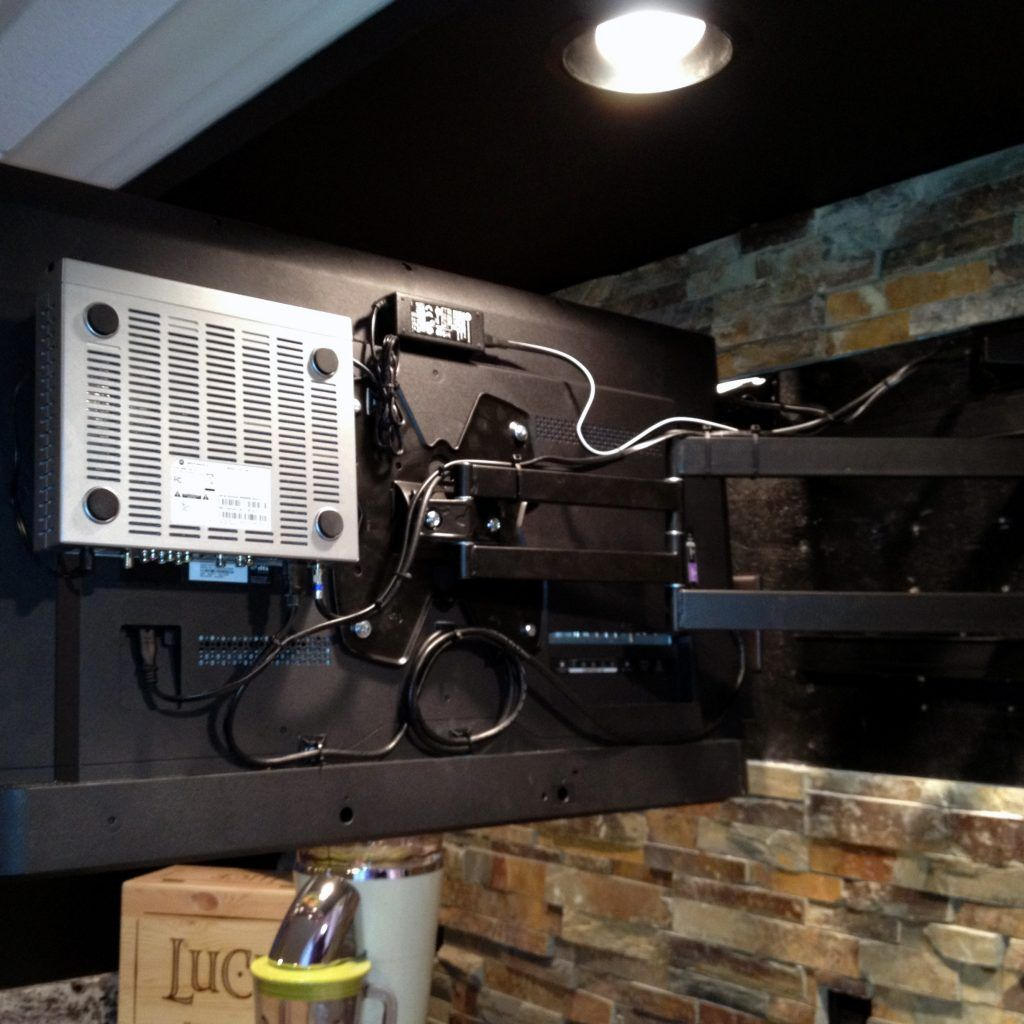 Hide Cable Box Behind Wall Mount Tv