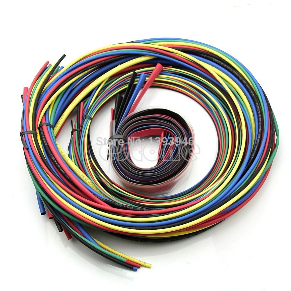 Ootdty J34 Heat Shrink Tubing 11 Sizes 6 Colours Tube Sleeving Pack Konektor Kabel Wago Wiring Connector Conductor Terminal 55m Set