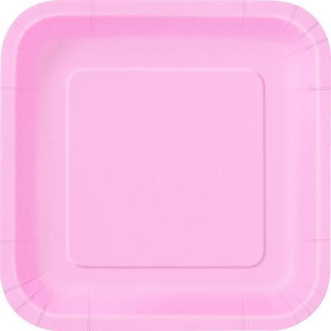 16 x 7  Pastel Pink Square Paper Plates  sc 1 st  Pinterest & 16 x 7