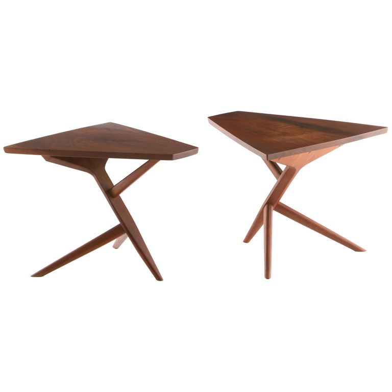 Pair Of George Nakashima Conoid Side Tables