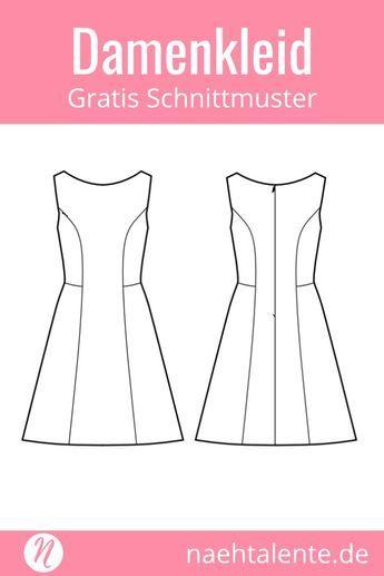Sommerkleid in A-Linie für Damen - gratis Schnittmuster | Nähideen ...