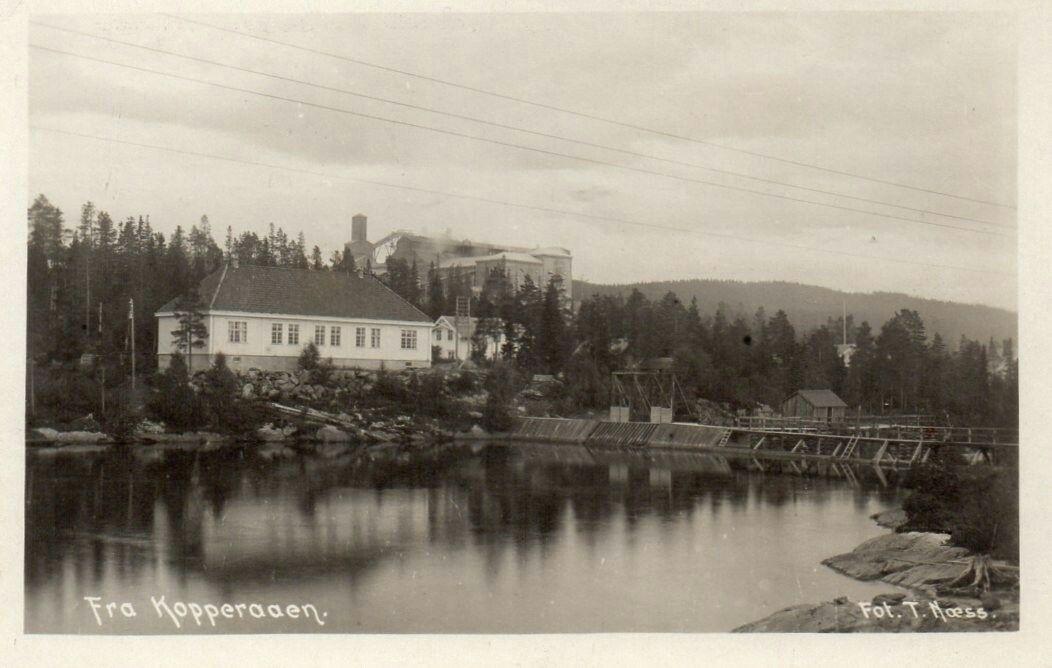 Nord-Trøndelag fylke Meråker kommune Kopperå KOPPERAAEN MED STOR FABRIKK. Utg T. Næss tidlig 1900-tall