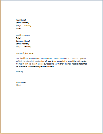 Download canceling order letter at httptemplatesword letter requesting cancellation services word amp excel templates service termination free sample example format best free home design idea altavistaventures Image collections