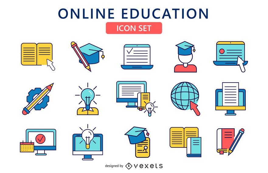 Check Out This Online Education Icon Set Perfect For All Your