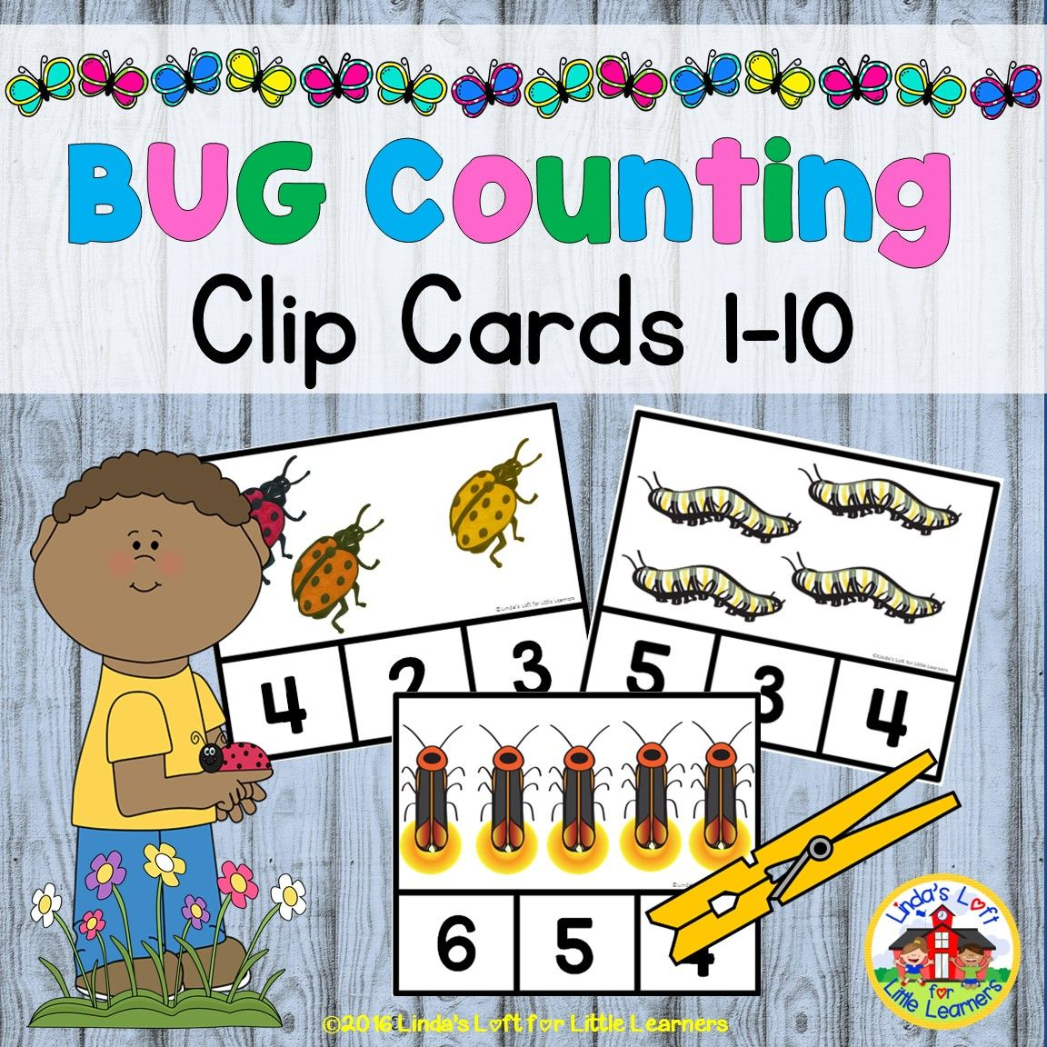 Bug And Insect Counting Clip Cards 1 12