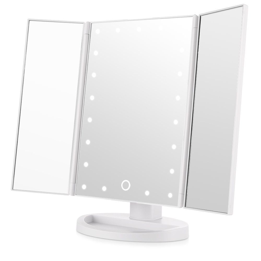 Amazon Com Easehold Led Lighted Vanity Mirror Make Up Tri Fold