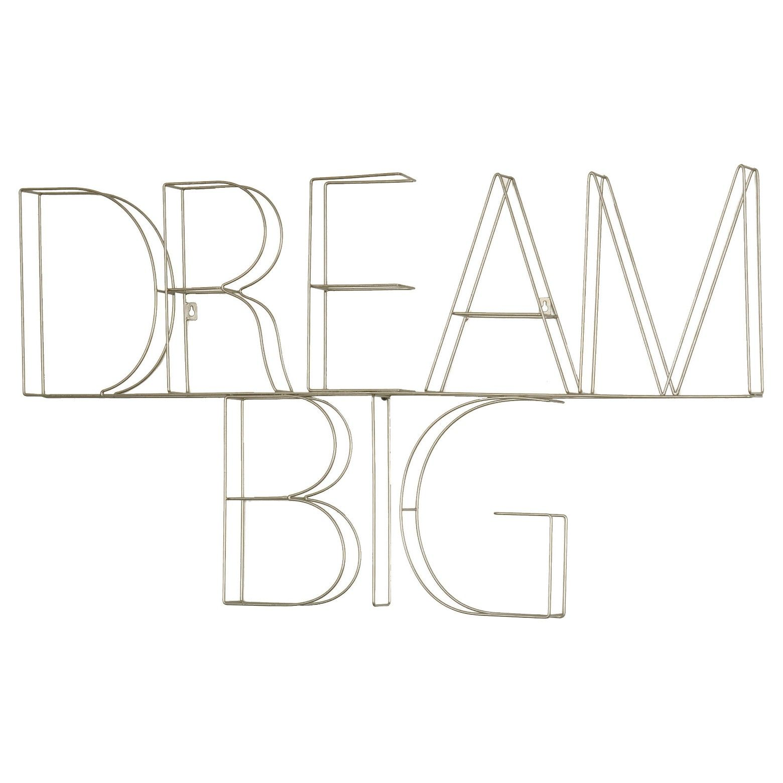 Dream big wire wall décor wire wall art room and playrooms