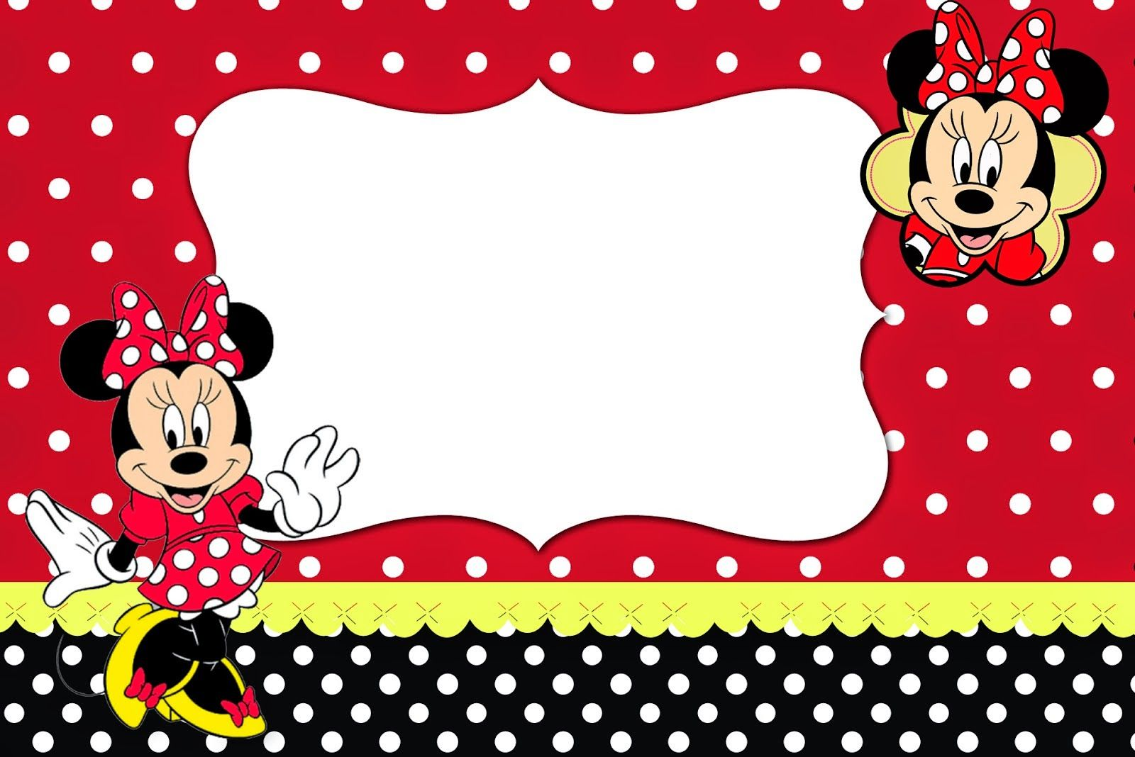 Minnie Red, Black, Yellow and Polka Dots: Free Printable ...