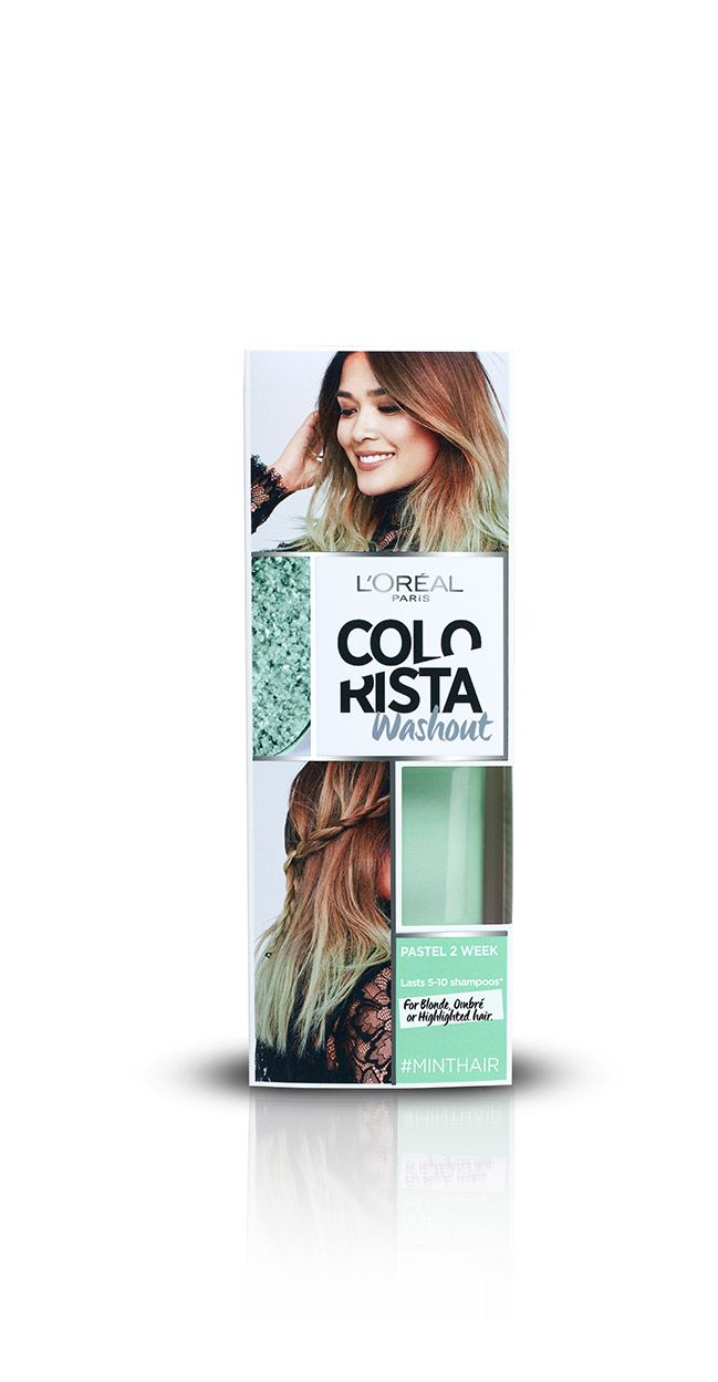 Colorista Washout Mint Mint Temporary Hair Dye Colorista