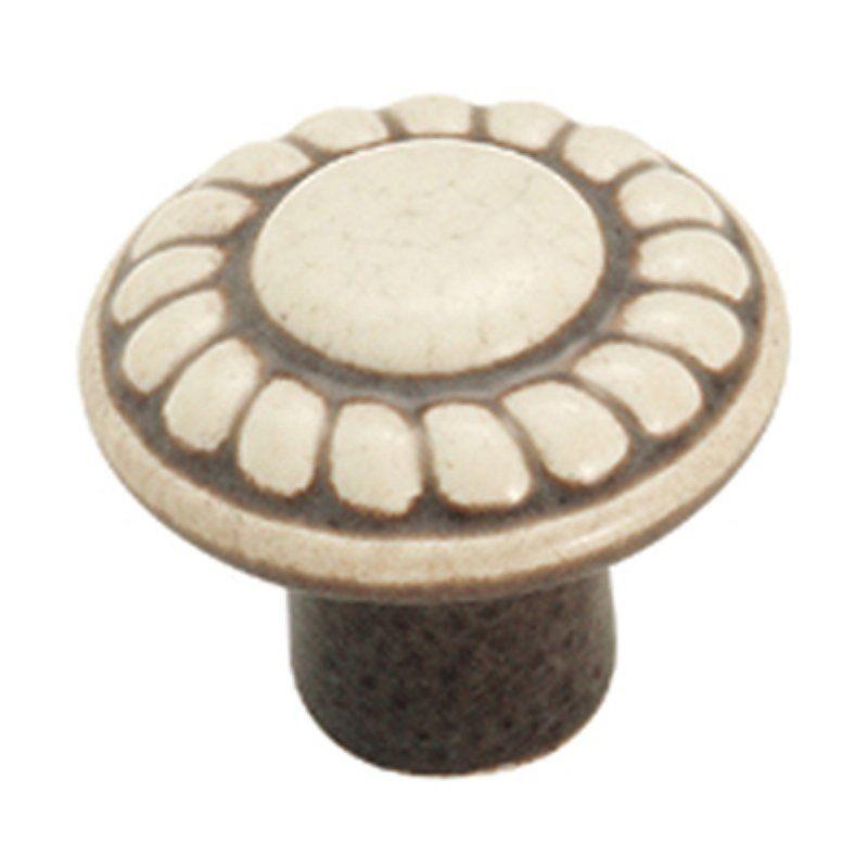 Amerock Colour Washed Rope Design Ceramic Knob - A01321 DW