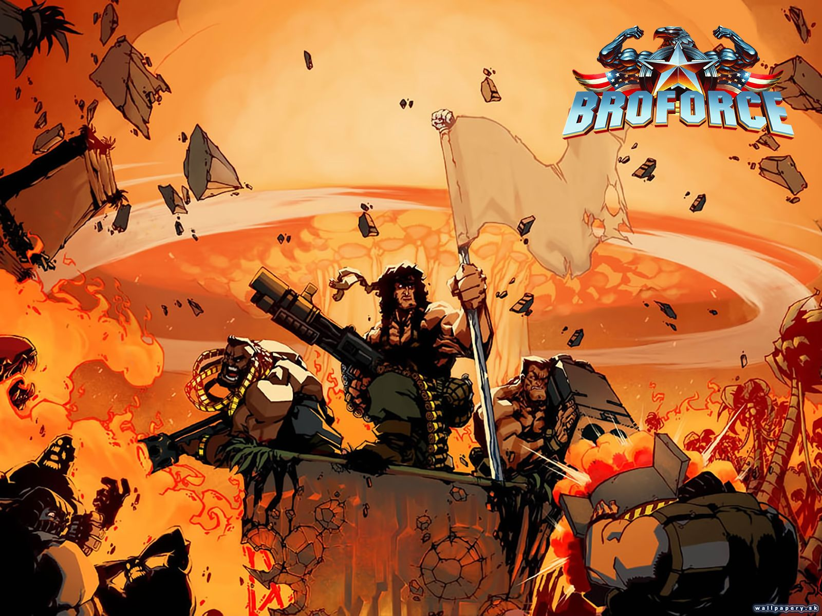 broforce wallpaper Google Search Game codes, Online