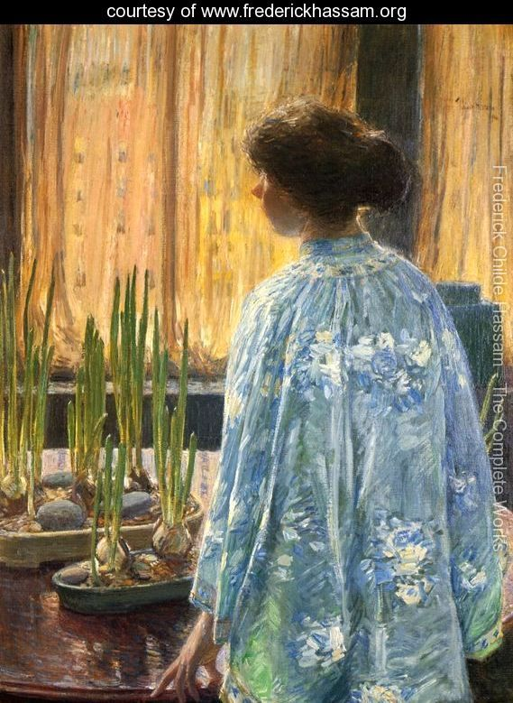 The Table Garden by Frederick Childe Hassam
