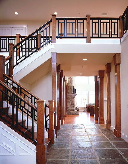 Best Plan 11550Kn Luxurious Craftsman Home Plan In 2019 Wrought Iron Stair Railing Iron Stair 400 x 300