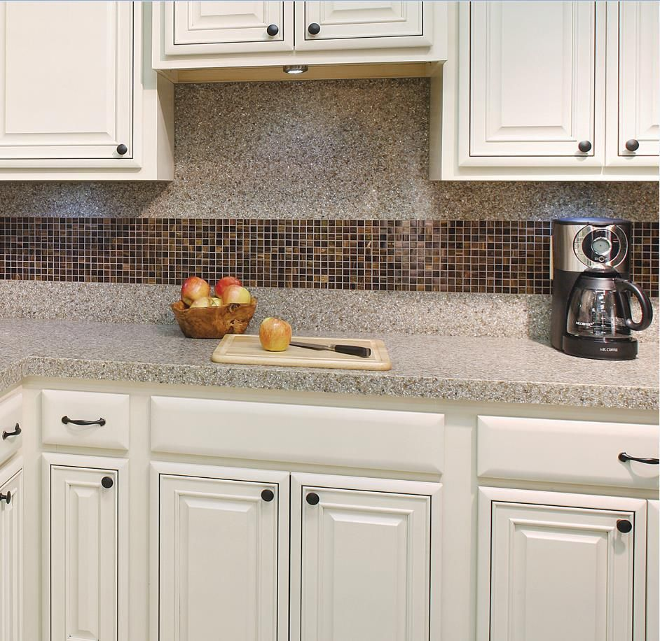 Amazing Design Tip: Mix Our Mosaic Tile And Granite Surface To Create A Unique Kitchen  Backsplash!