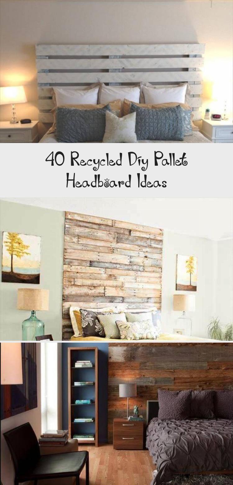 40 Recycled Diy Pallet Headboard Ideas - Home Decor Diy #palletheadboards