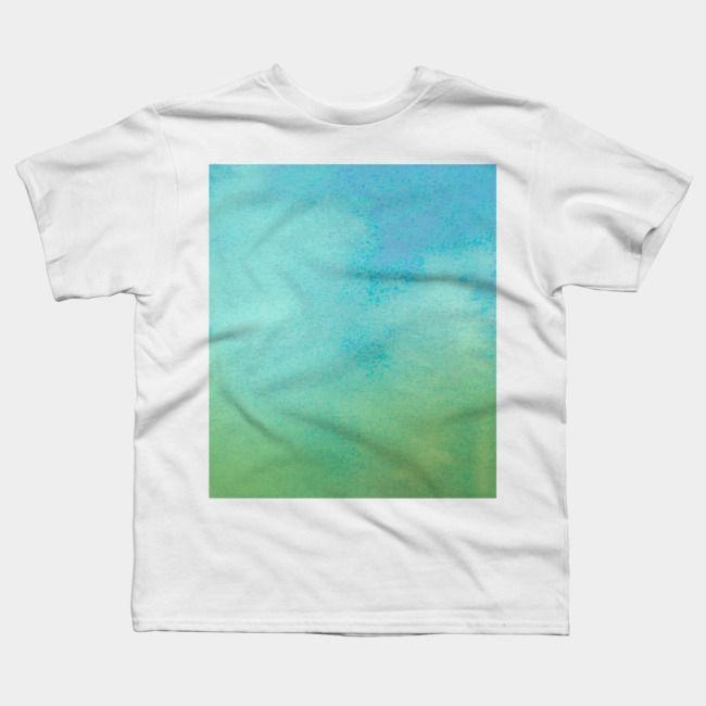 Blue Green Watercolor T Shirt Green Watercolor Blue Green T Shirt