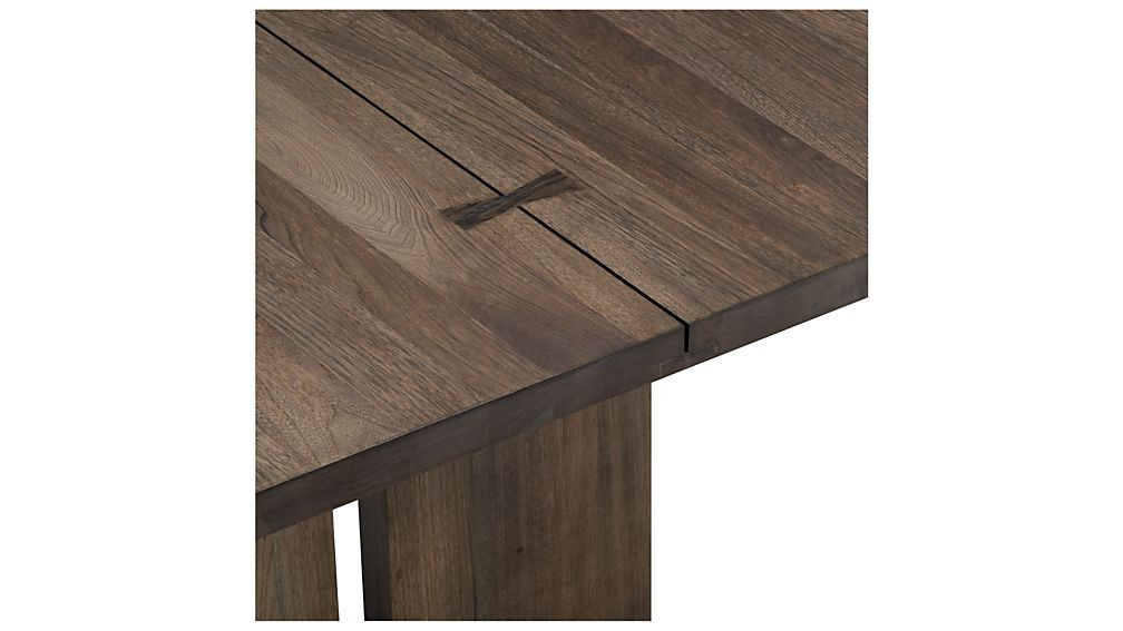 Our Monarch dining collection is handcrafted using centuries-old techniques in a modern way. Rare lengths of solid walnut chosen for their beautiful cathedral graining, are united on top with traditional Chinese butterfly joinery without using nails or screws. The table top's signature exposed butterfly joinery and floating slab legs demonstrate the exemplary craftsmanship that goes into these organic modern tables. Monarch's unique shiitake finish, a subtle blend of browns and greys…