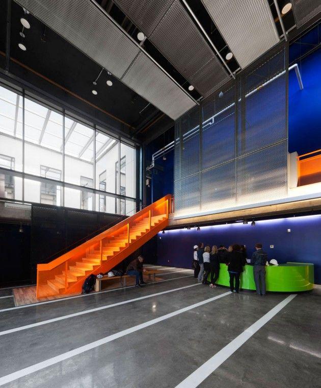 A Montreal Cultural Centre by Atelier Big City, un tuffo nel colore - gallery via Abitare Magazine
