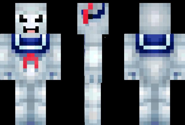 Stay Puft Marshmallow Man Ghostbusters Minecraft Skin Video - Skin para minecraft pe de marshmello