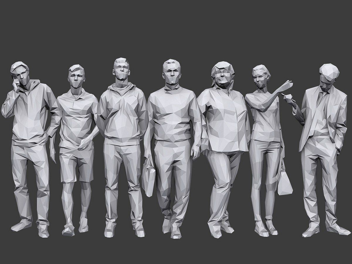 Complete Lowpoly People Pack Vol. 2 (With images) Low