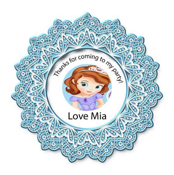 Avery template tag favor  sofia princess  by BeautyANDbrainsGirls, $6.00