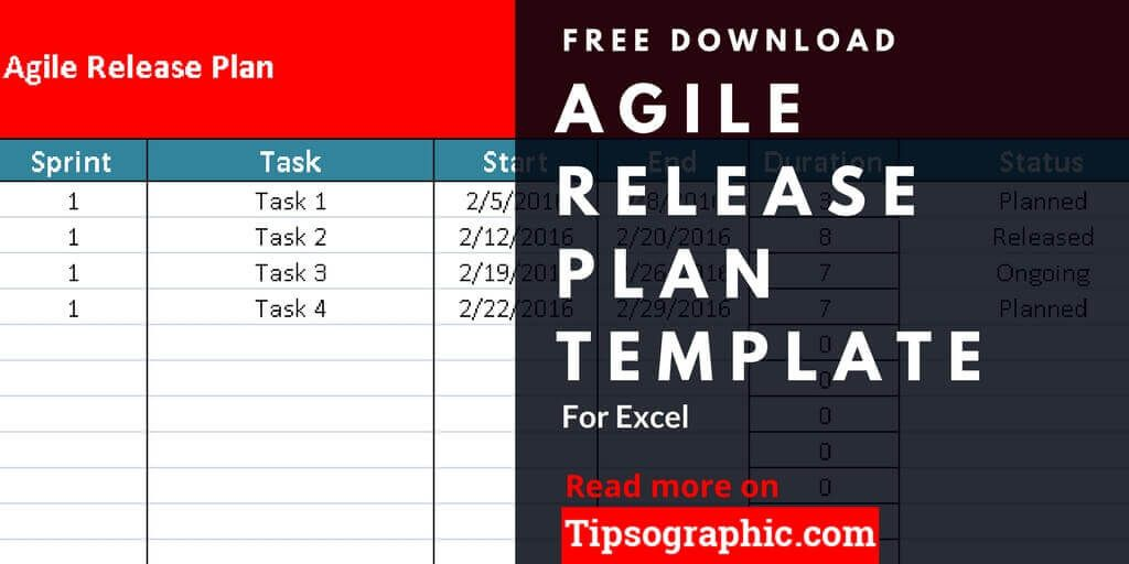 Agile Release Plan Template for Excel, Free Download Agile