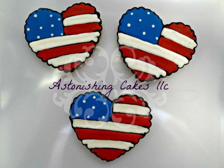 fceb8edc8fa american flag heart cookie