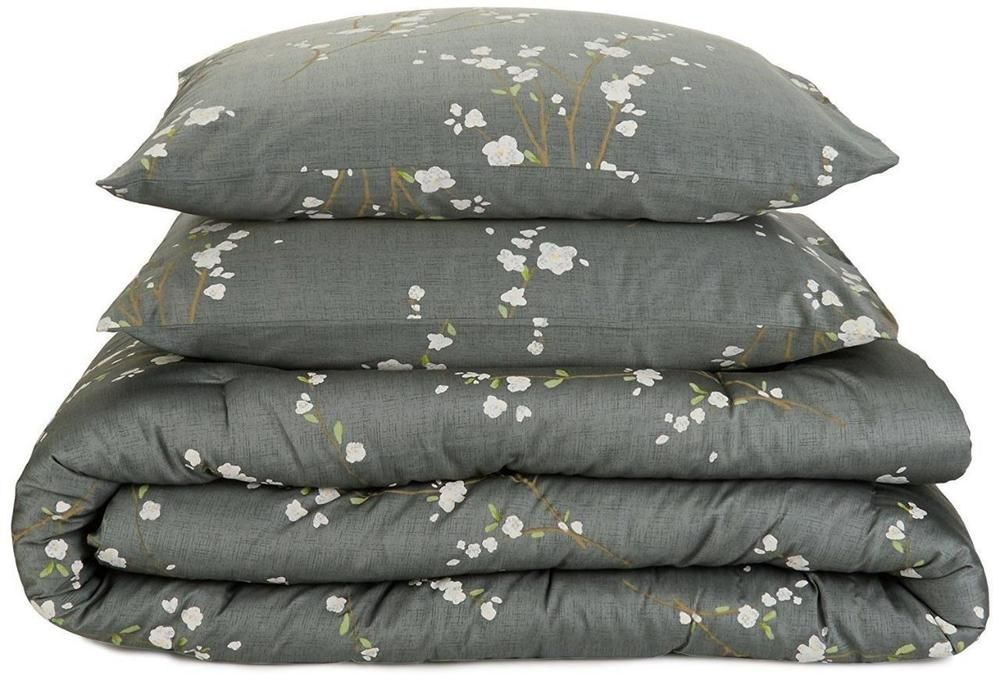 Best Calvin Klein Pyrus Dusk Grey Floral Cotton King Comforter 400 x 300