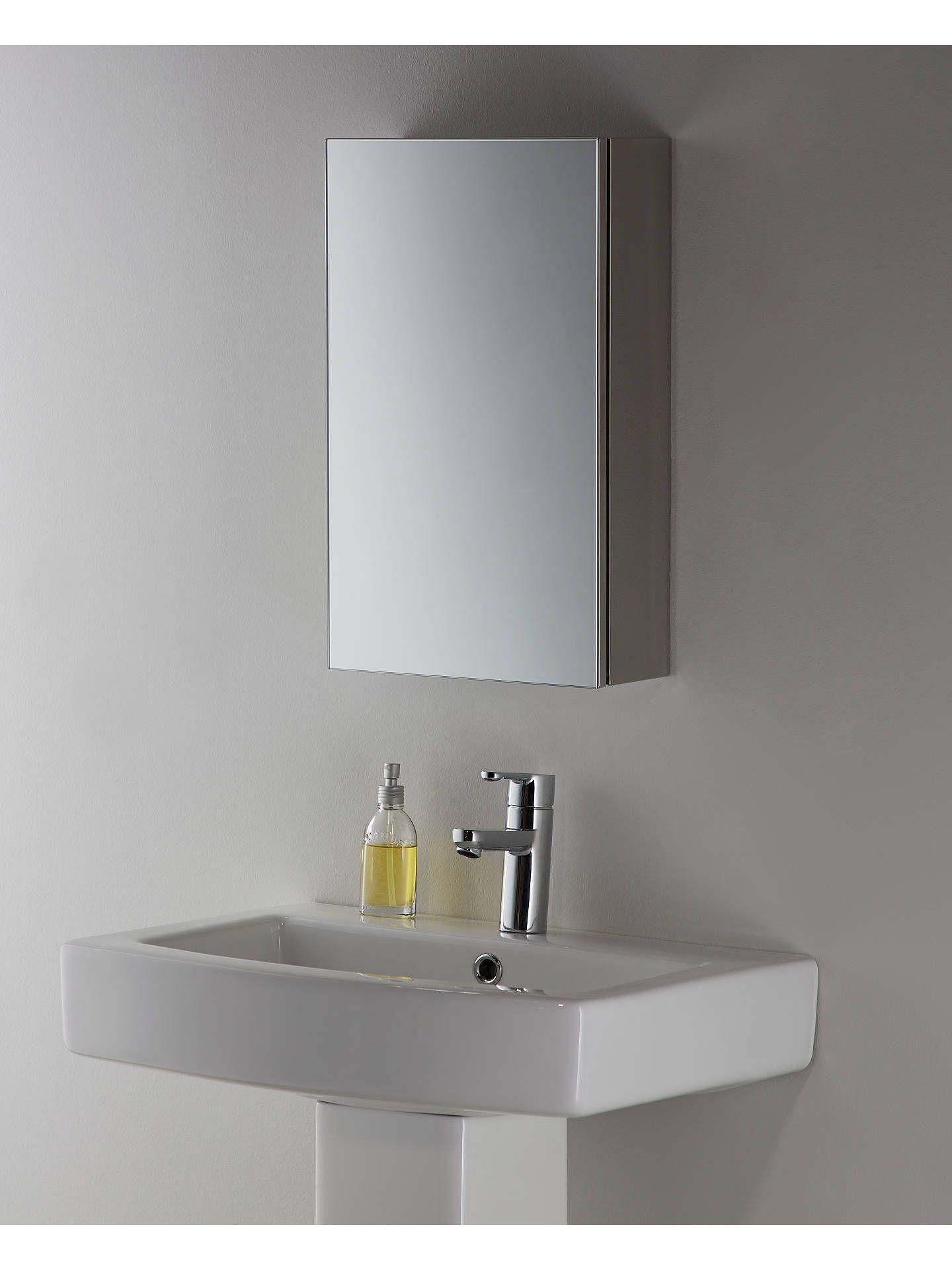 John Lewis Partners Small Single Mirrored Bathroom Cabinet Bathroom Mirror Cabinet Bathroom Mirror Bathroom