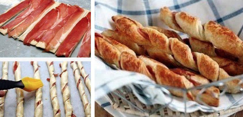 torsades au jambon cru cuisine bacon food et desserts. Black Bedroom Furniture Sets. Home Design Ideas