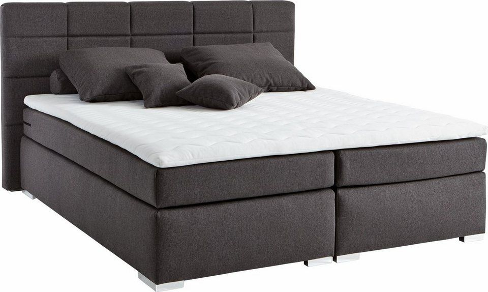 set one by Musterring Boxspringbett »Memphis« inkl Topper, in 3 - farbe fürs schlafzimmer