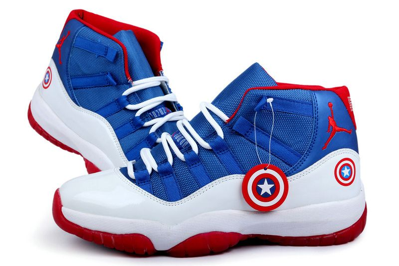Air Jordan 11 Retro 2013 Captain America White Blue Red Mens Shoes, cheap  Jordan If you want to look Air Jordan 11 Retro 2013 Captain America White  Blue Red ...