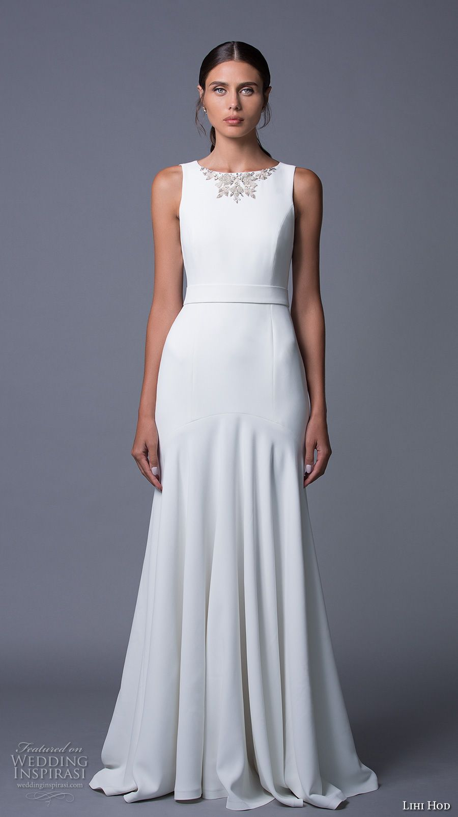 Simple white wedding dresses  Lihi Hod  Wedding Dresses u ucMaison des Rêvesud Bridal Collection