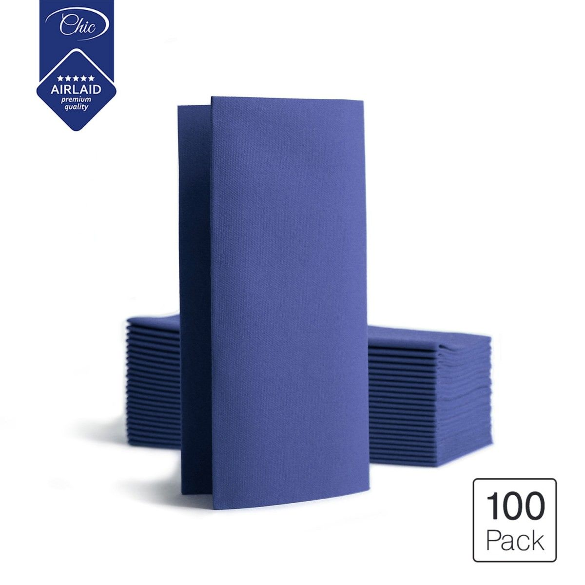 Seti Deluxe Folded Disposable Linen Feel Airlaid Dinner Party Paper Napkins Blue 100 Pack In 2020 Linen Feel Decorative Paper Napkins Party Paper