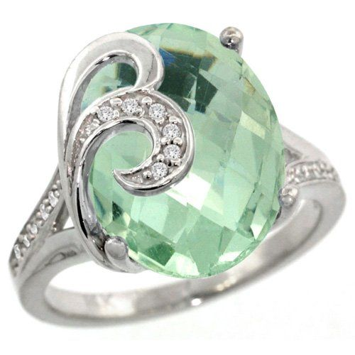 oval green amethyst engagement ring this elegant green amethyst engagement ring is crafted from solid - Green Wedding Rings