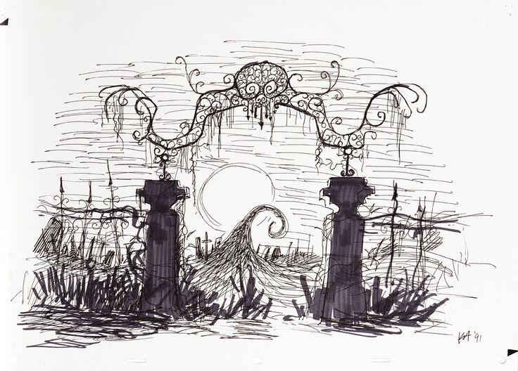 tim burton pumpkin drawings | Nightmare Before Christmas. (Buena ...