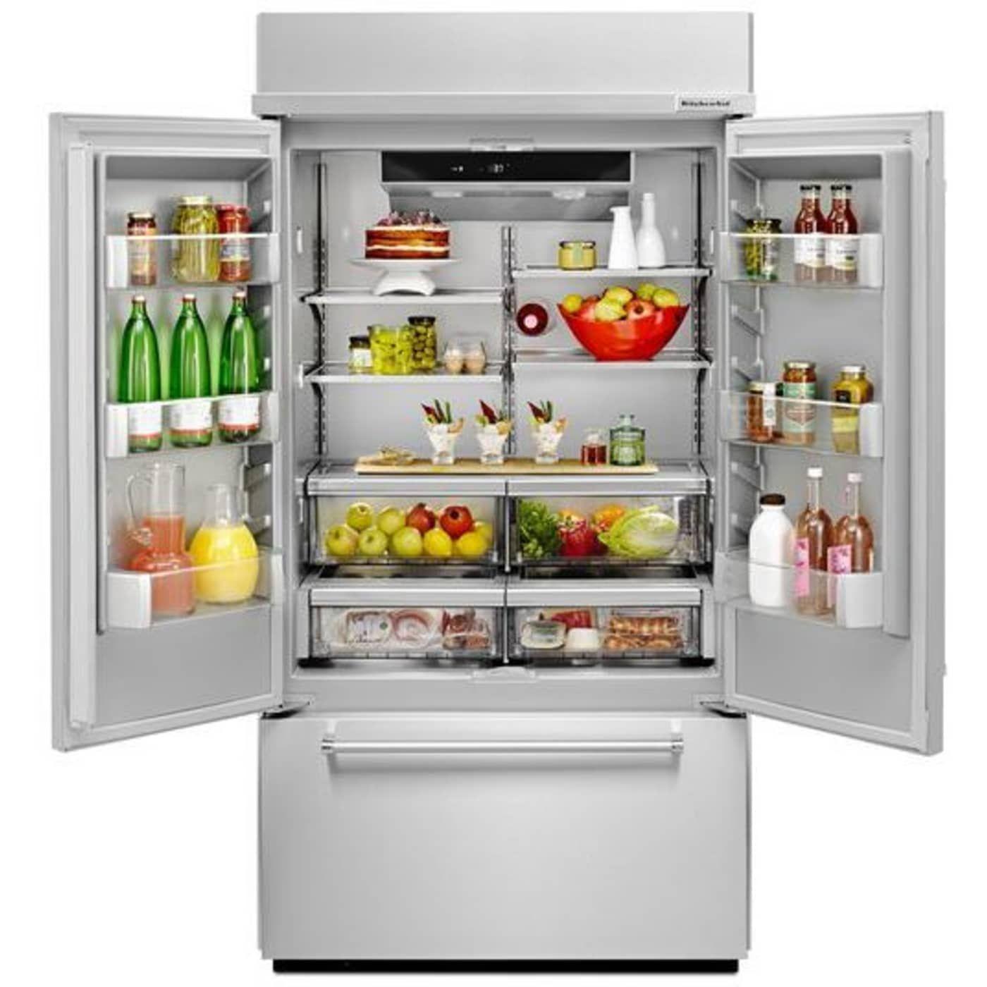 Kbfn502ess by kitchenaid french door refrigerators