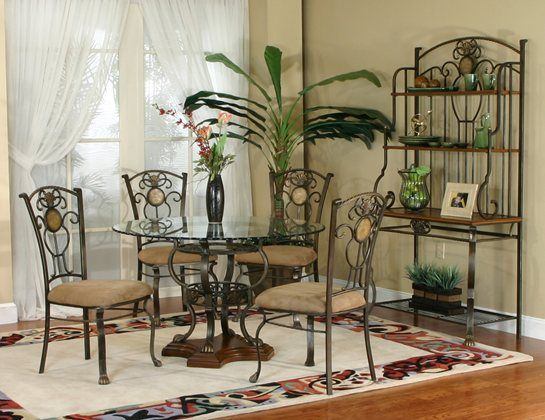 Allegro 5pc Dining Kanes Furniture Round Dining Room Sets