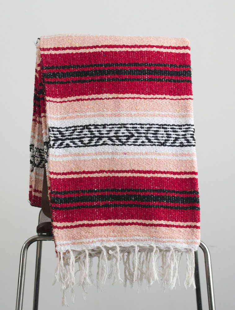 Blankets Rugs Textiles Hand Woven Mexican Throw Blanket