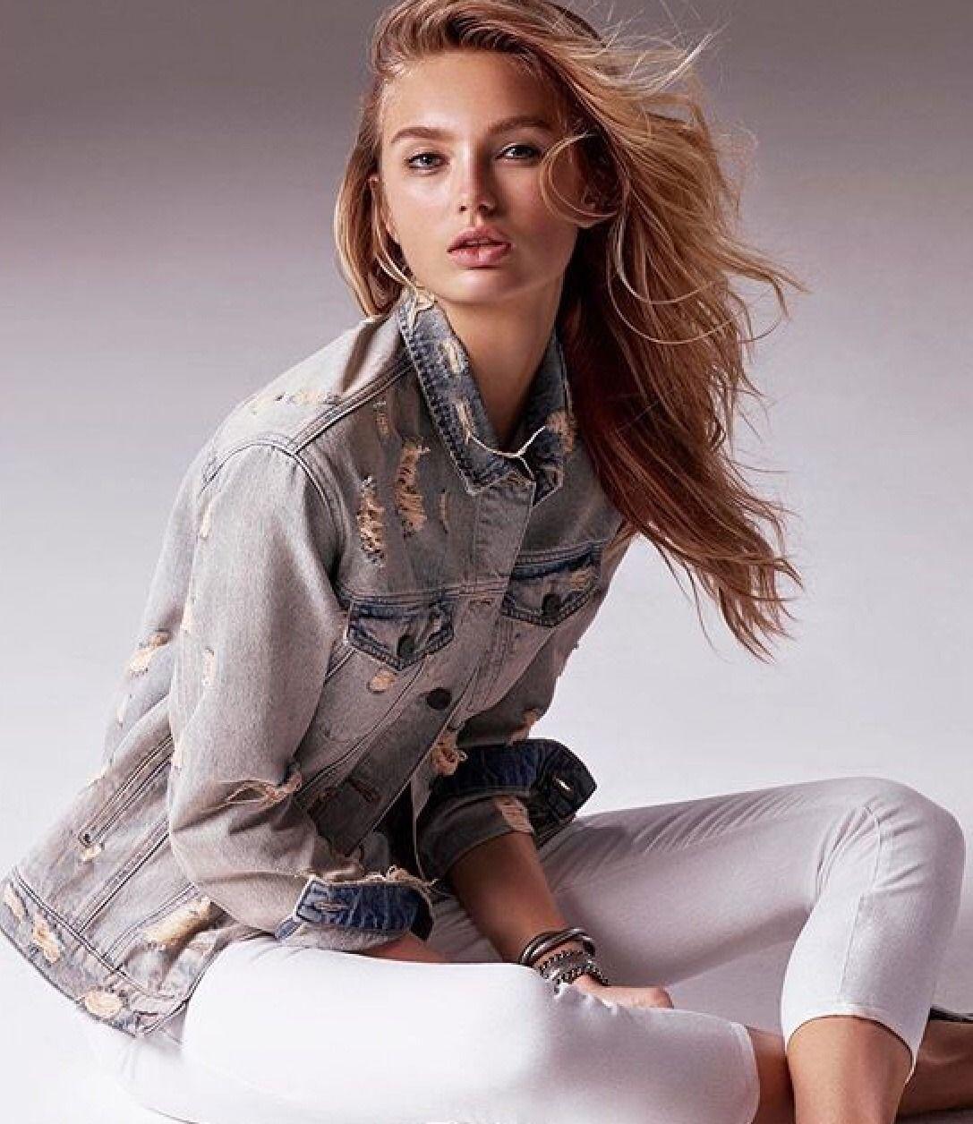 df6db90497b153 Romee Strijd || Mavi Jeans (2018 Campaign) | Romee | Fashion, Mavis ...