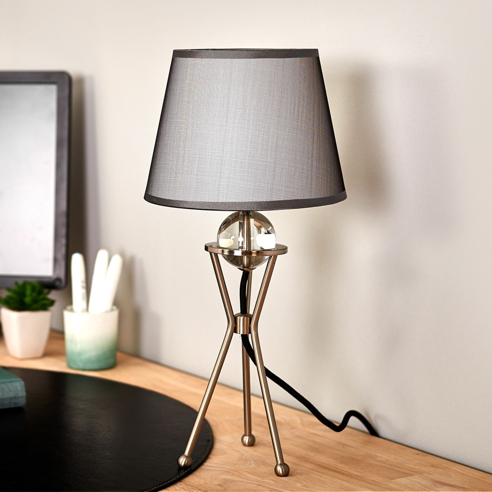 Pivotable grey table lamp Zsa by Pamalux