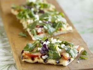 Grilled Greek Salad Pizza