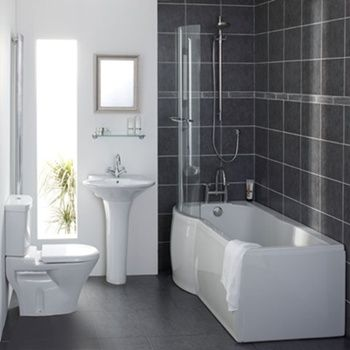 Space Saving P Shaped Shower Baths Are An Amazing Approach Small Bathroom Tub Shower Combo Small Bathroom With Tub