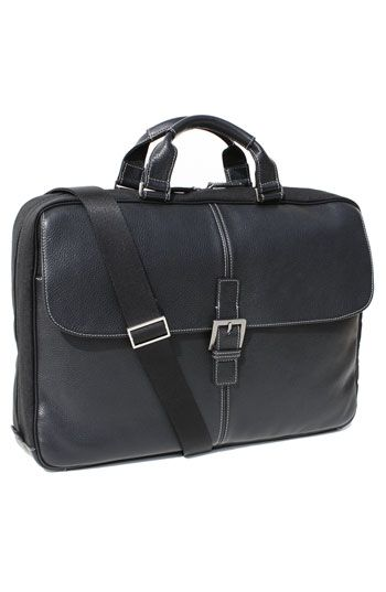 Boconi 'Tyler' Tumbled Leather Portfolio Briefcase available at #Nordstrom