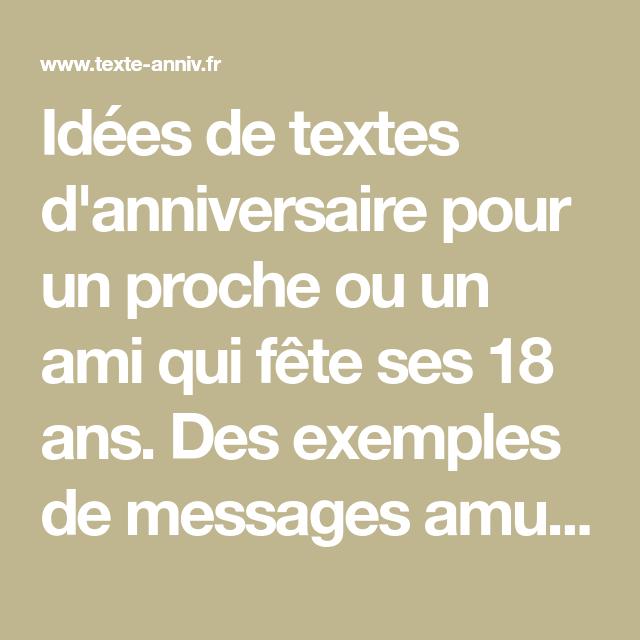 Idees De Textes D Anniversaire Pour Un Proche Ou Un Ami Qui Fete Ses