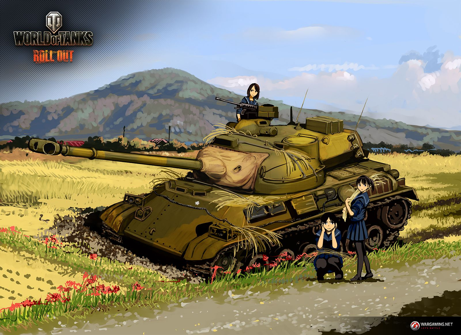 Part 14 Type 61 Takeshi Nogami World Of Tanks Anime Tank Tank Wallpaper