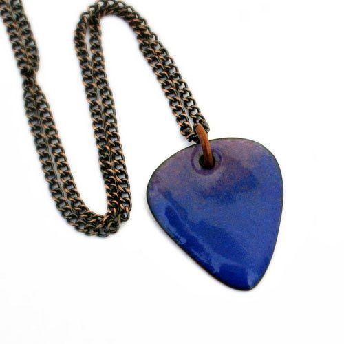 Blue Heart Necklace ~Ultramarine Blue Enamel Minimalist  Heart Pendant Necklace