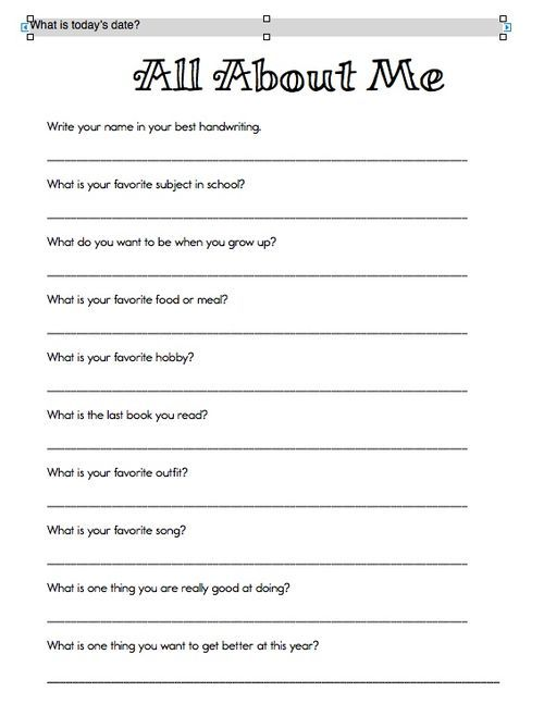 all about me | Classroom ideas | Pinterest